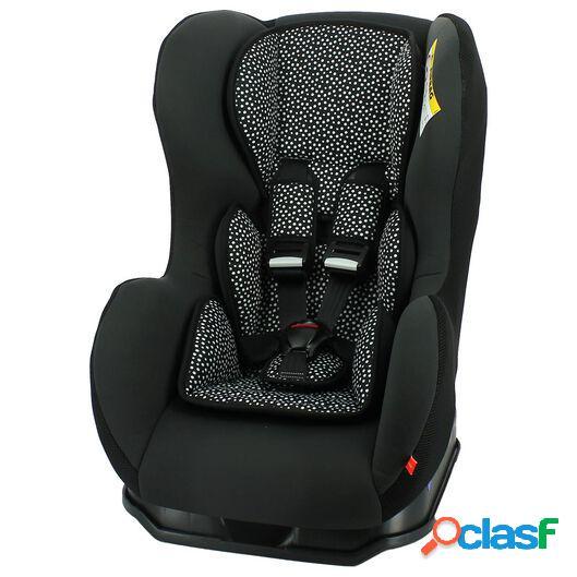 Hema siège auto bébé 0-25kg pois noirs/blancs