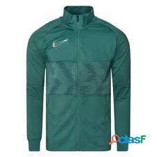 Nike strike dry track veste - vert/argenté