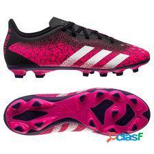Adidas predator freak.4 fg/ag superspectral - rose/blanc/noir