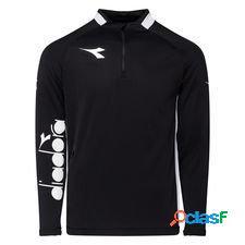 Diadora maillot d'entraînement equipo pro 1/2 zip - noir/blanc