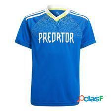 Adidas t-shirt d'entraînement predator - bleu/jaune enfant