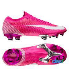 Nike mercurial vapor 13 elite fg mbappé rosa - rose/blanc/noir