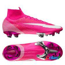Nike mercurial superfly 7 elite fg mbappé rosa - rose/blanc/noir