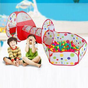 3in1 enfants bébé jouer tente & tunnel ball pit playhouse