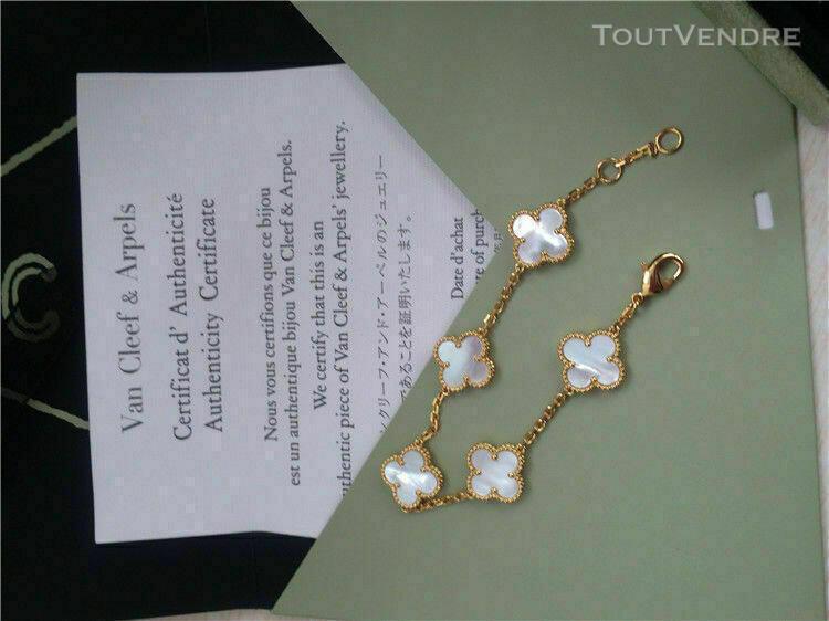 Bracelet van cleef & arpels 18k alhambra en nacre 5 motif or