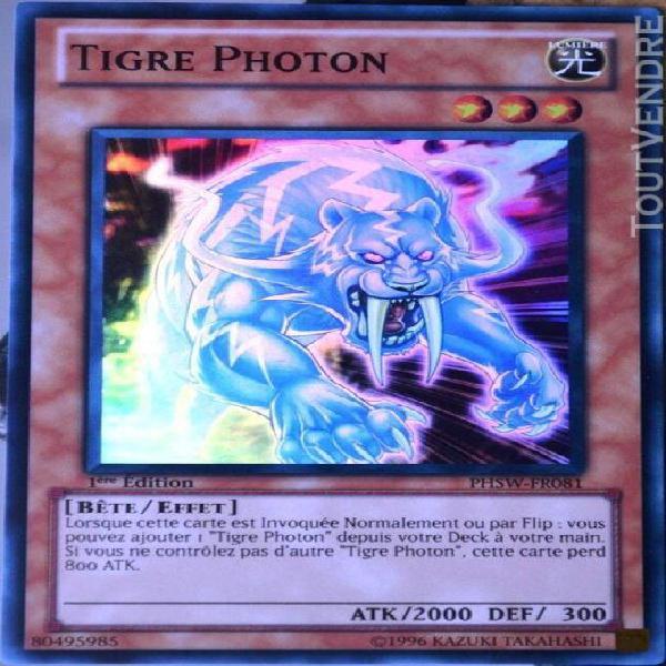 Carte yu-gi-oh phsw-fr081 tigre photon neuf fr
