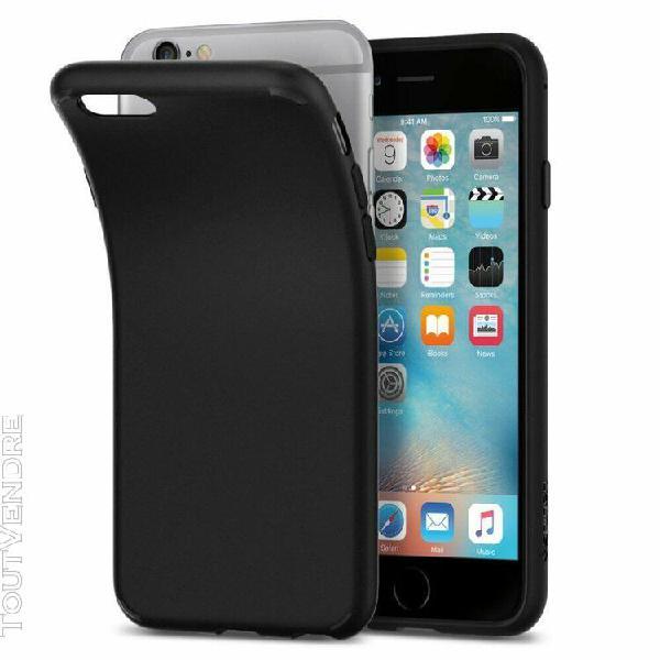 Coque iphone xs coque de protection arrière noir mat pour
