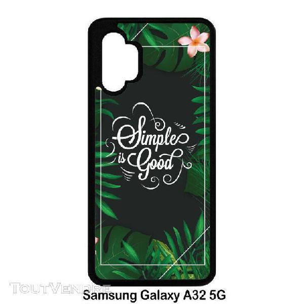Coque pour smartphone - simple is good tropical fond noir 2