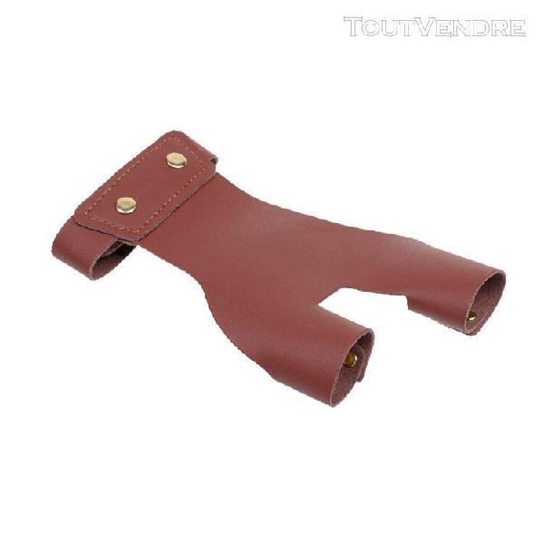 Gant de protection de à l'arc protège-mains à 2 doigts