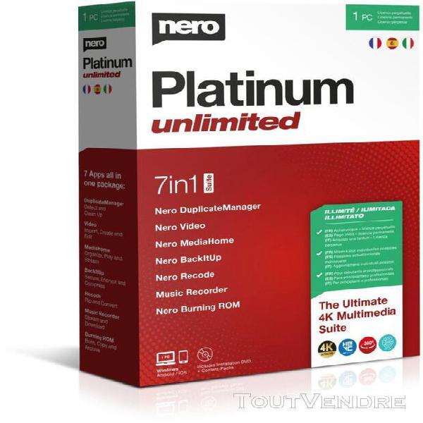Logiciel de photo/vidéo nero platinum unlimited