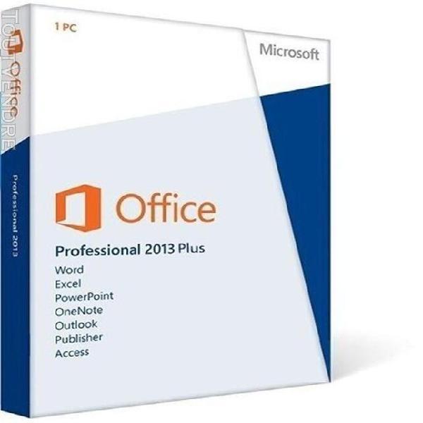 Microsoft office 2013 professional plus - 1 pc - multi-lingu