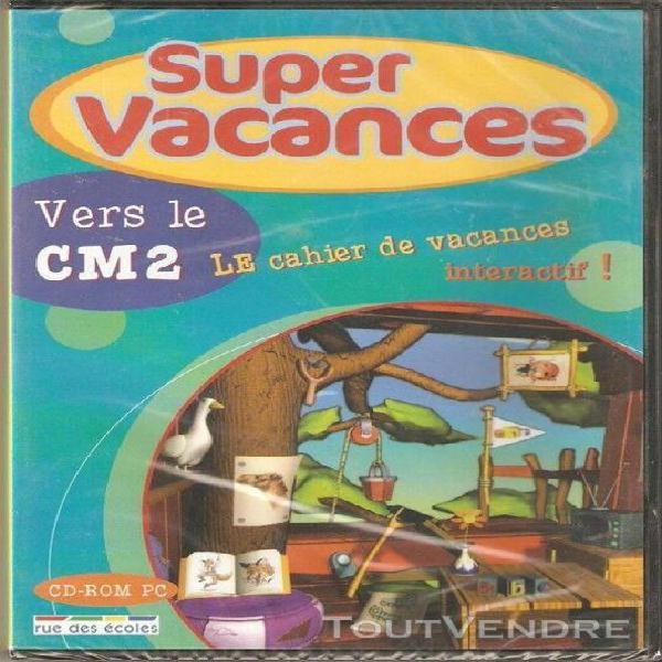 Super vacances cd-rom pc vers le cm2