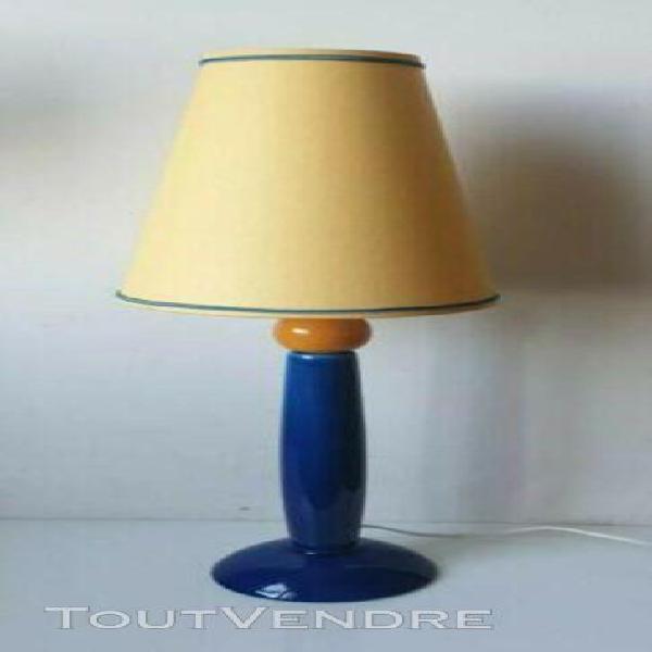Lampe faience multicolore albret france memphis bauhaus no e