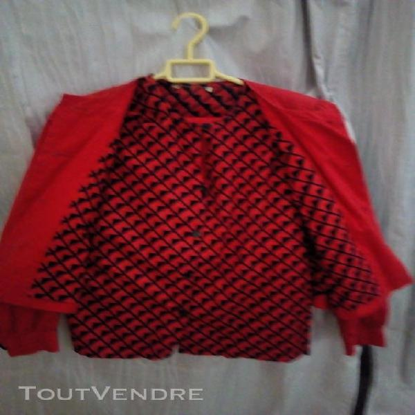 Tailleur jupe chemise taille 38 patchwork