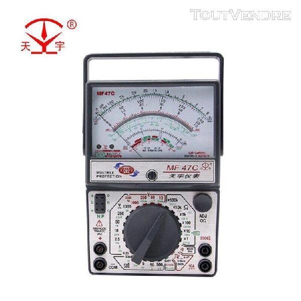 Testeur de tension et de courant mf47c mf47f mf47t, testeur