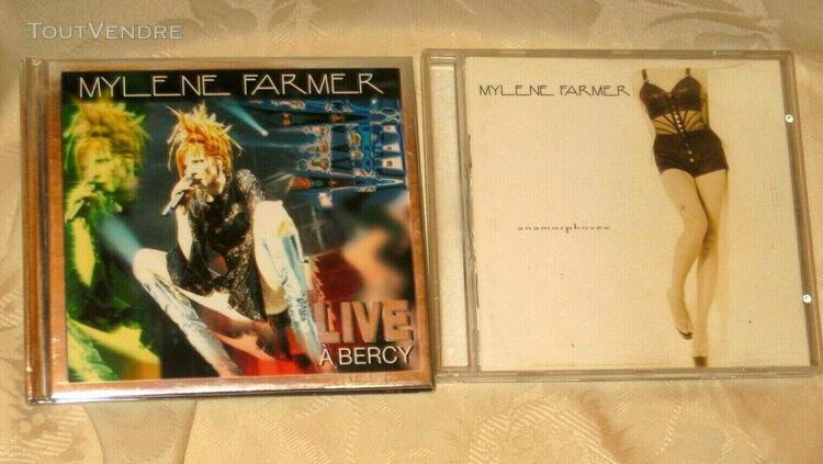 "Lot de 2 cd mylene farmer ""anamorphosee"" et ""live a bercy"""