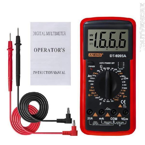 Testeur électrique portable professionnel dt9205a hfe ac dc