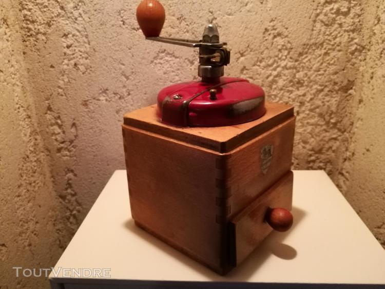 Ancien moulin café peugeot bois/métal vintage collection