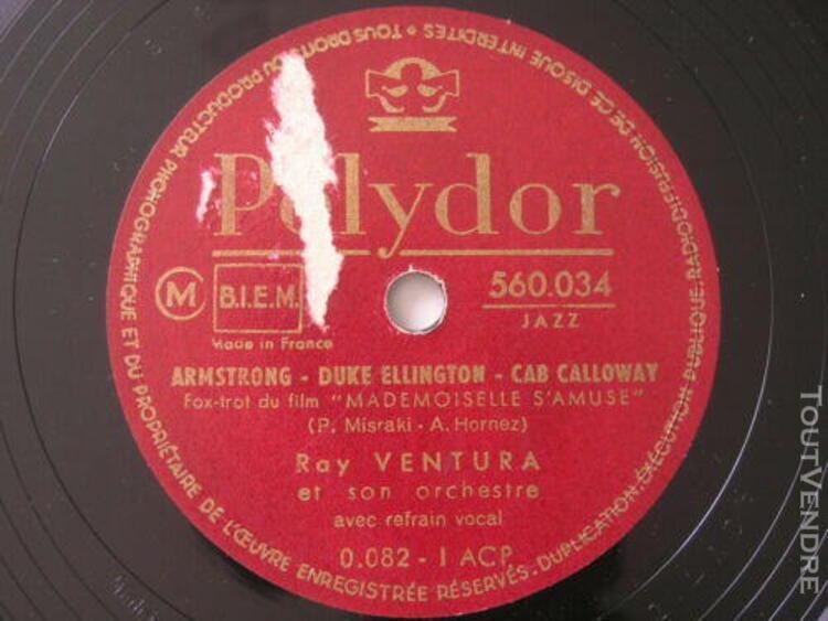 Ray ventura armstrong duke ellington cab calloway disque 78