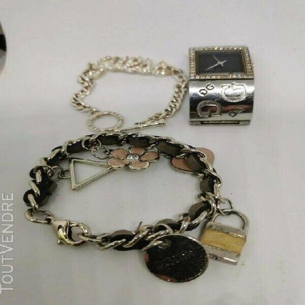 Guess montre bracelet manchette + 2 bracelet =1avec strass e