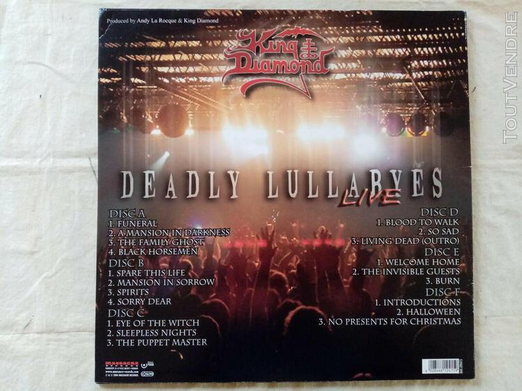 King diamond deadly bullabyes live 3 lp..massacre records-ma