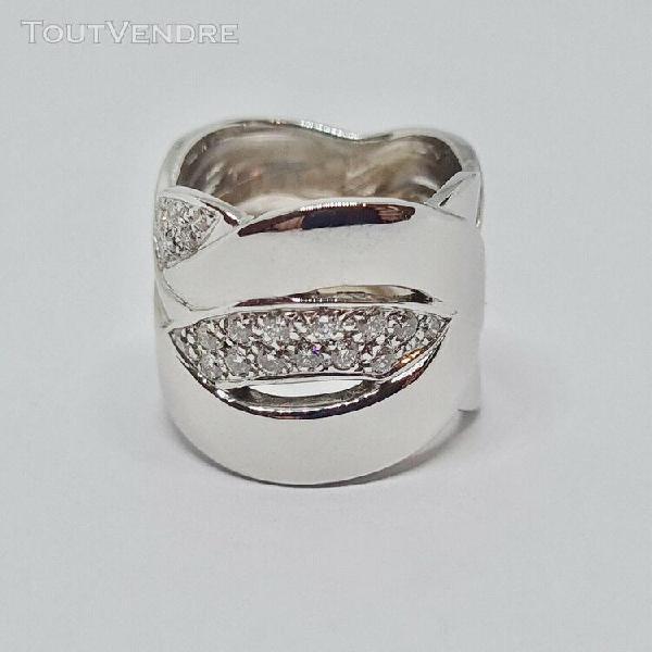 Bague diamants or blanc 18 carats