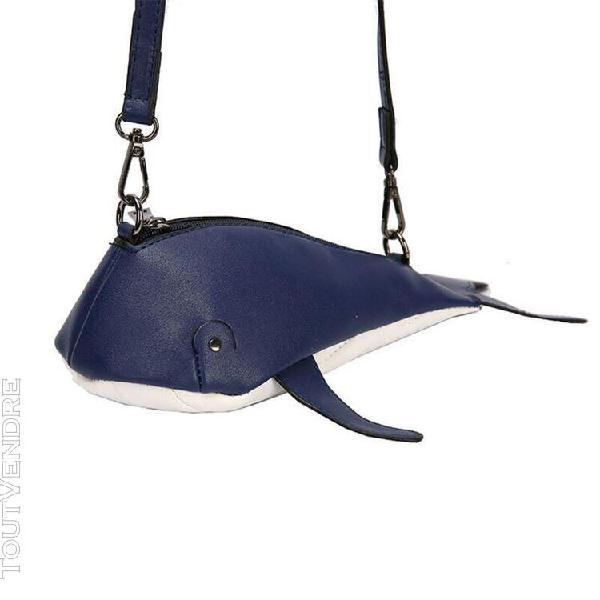 Dark blue -sac à main en cuir pu pour femmes, mignon en