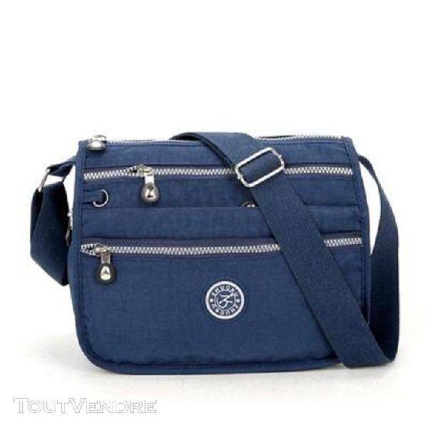 Dark blue -sacs à main imperméables en nylon pour femmes,