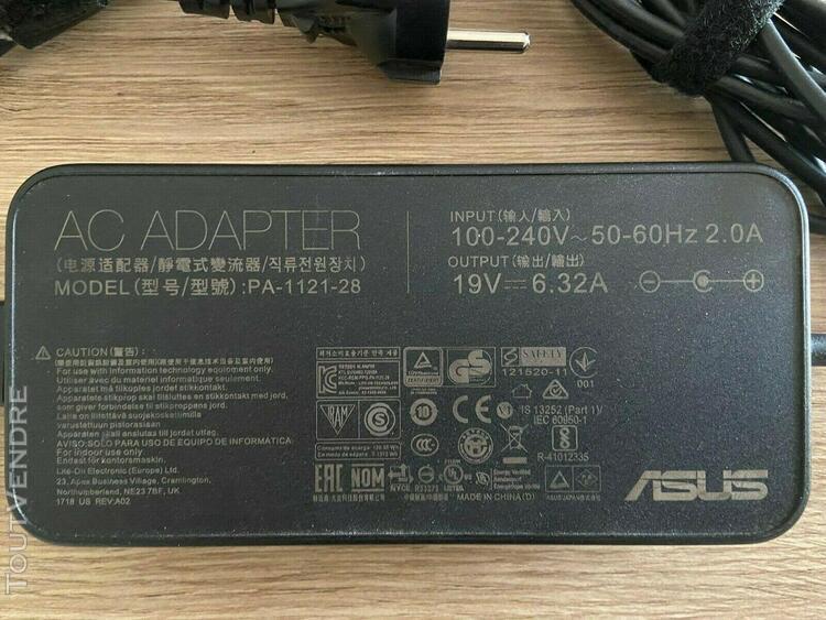 Chargeur ordinateur portable asus pa-1121-28