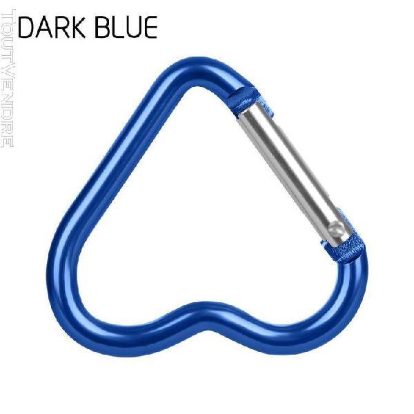 Dark blue heart -3/6/9 pièces en forme de coeur boucles