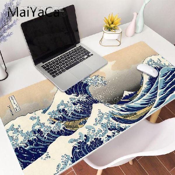 Grande vague hors art grande taille tapis de souris ordinate