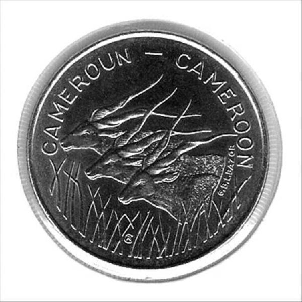Pièce de monnaie 100 francs cameroun 1972 bu km#16