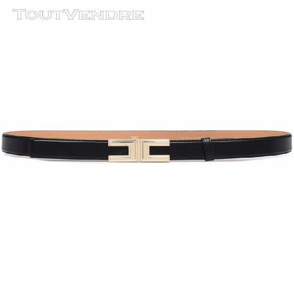 Elisabetta franchi femme ct12s16e2110 noir cuir ceinture