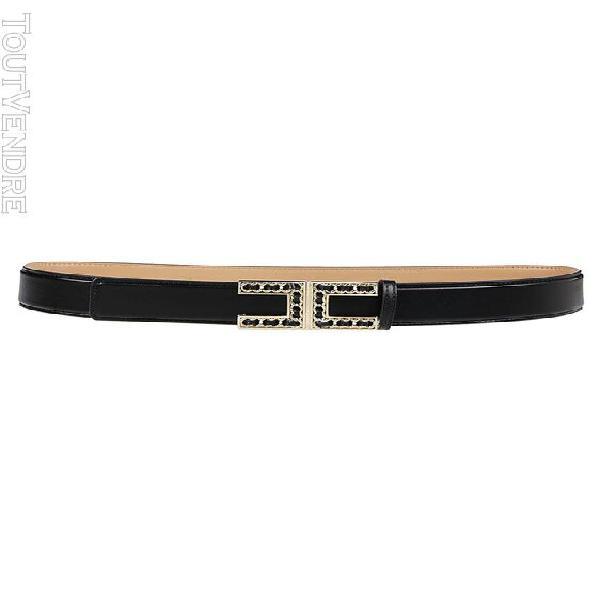 Elisabetta franchi femme ct13s16e2110 noir cuir ceinture