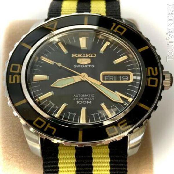 Superbe montre de plongée seiko sports 5 automatique