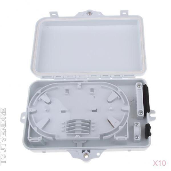 10x 6 ports fibre optique tray tray terminal cover protector