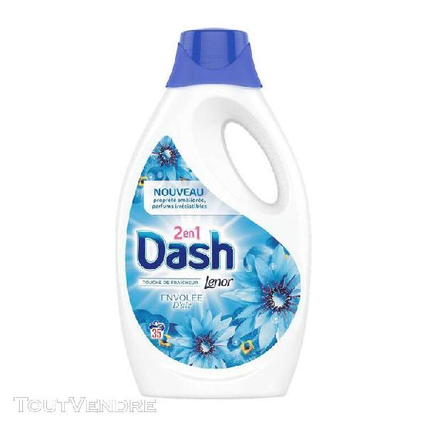 Lot de 6 - dash: 2en1 - lessive liquide lenor envolée d'air