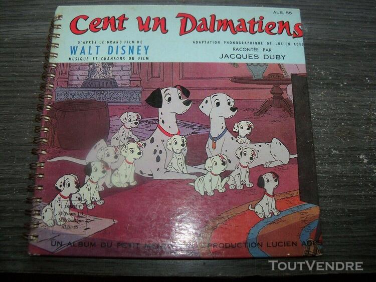 101 dalmatiens vinyle 45t livre par jacques duby walt disney