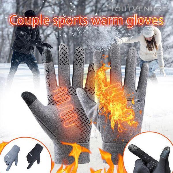 Gants de sports de plein air d'hiver coupe-vent ecran tactil