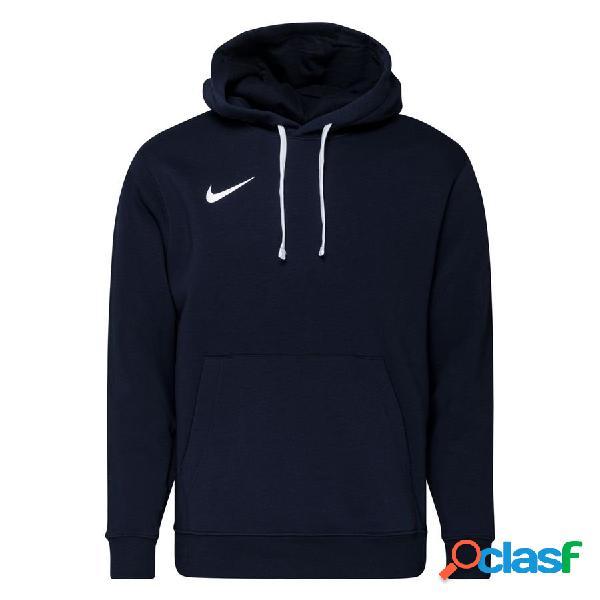 Nike sweat à capuche fleece po park 20 - bleu foncé/blanc