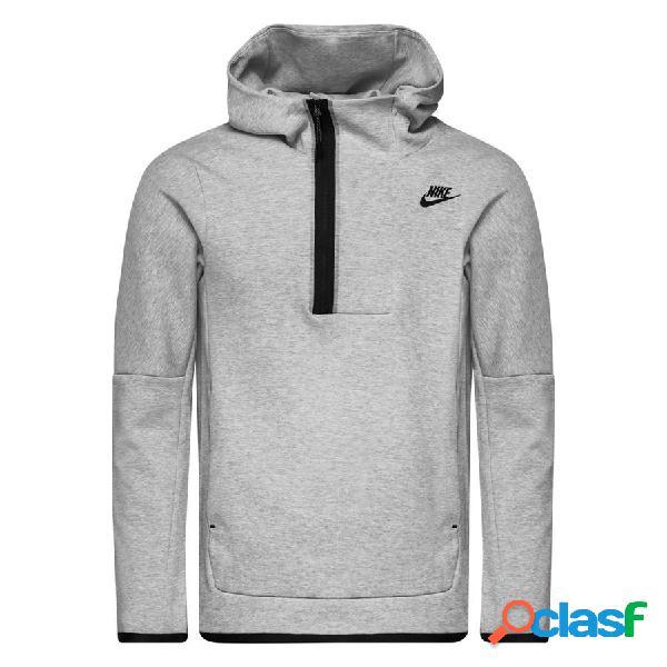 Nike sweat à capuche nsw tech fleece hz - gris/noir