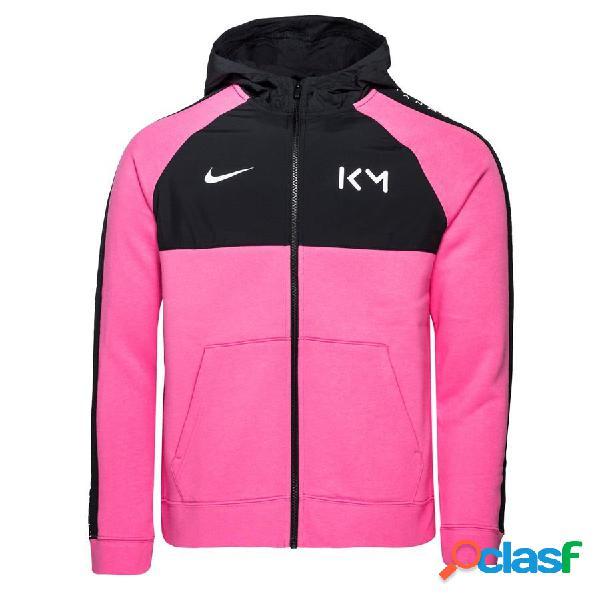 Nike sweat à capuche hybrid fleece fz mbappé rosa - rose/noir/blanc enfant