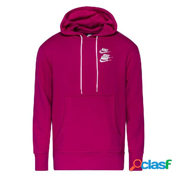 Nike sweat à capuche nsw pullover french terry world tour - rose/blanc