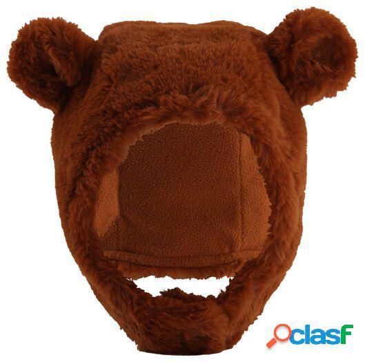 Hema bonnet ours bébé marron (marron)