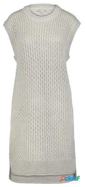 Hema robe spencer en maille femme gris clair (gris clair)