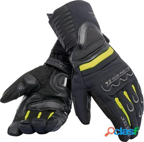 Dainese scout 2 gore-tex, gants moto gore-tex®, noir-fluo jaune-noir