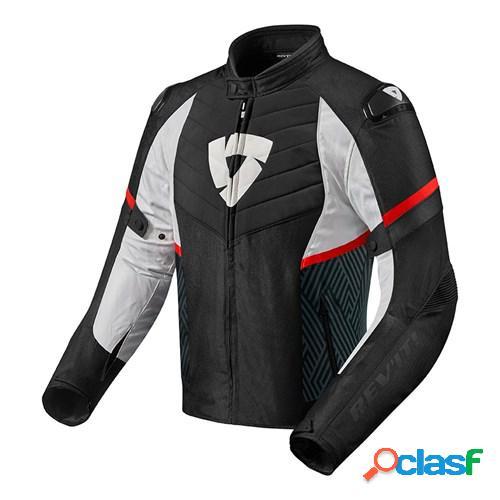 Rev'it! arc h2o, veste moto textile hommes, noir-rouge