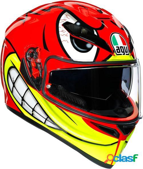 Agv k3 sv birdy, casque moto intégral, rouge-jaune-blanc