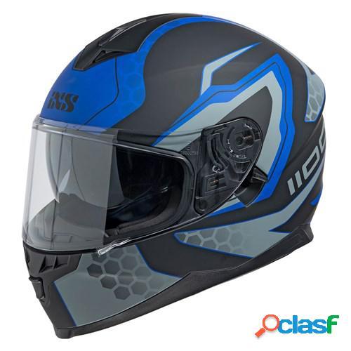 Ixs 1100 2.2, casque moto intégral, mat noir bleu