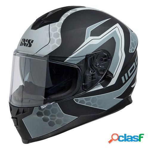 Ixs 1100 2.2, casque moto intégral, mat noir gris